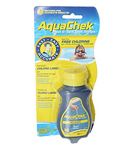 pool chlorine tester Aquachek Yellow Strips