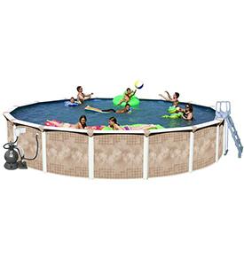 best splash pools round deluxe above ground pool