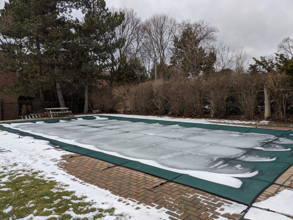 Snowy Pool Cover